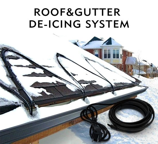 Roof & Gutter deicing heating cable