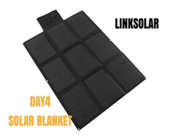 LINK SOLAR Foldable Solar Panel Blanket