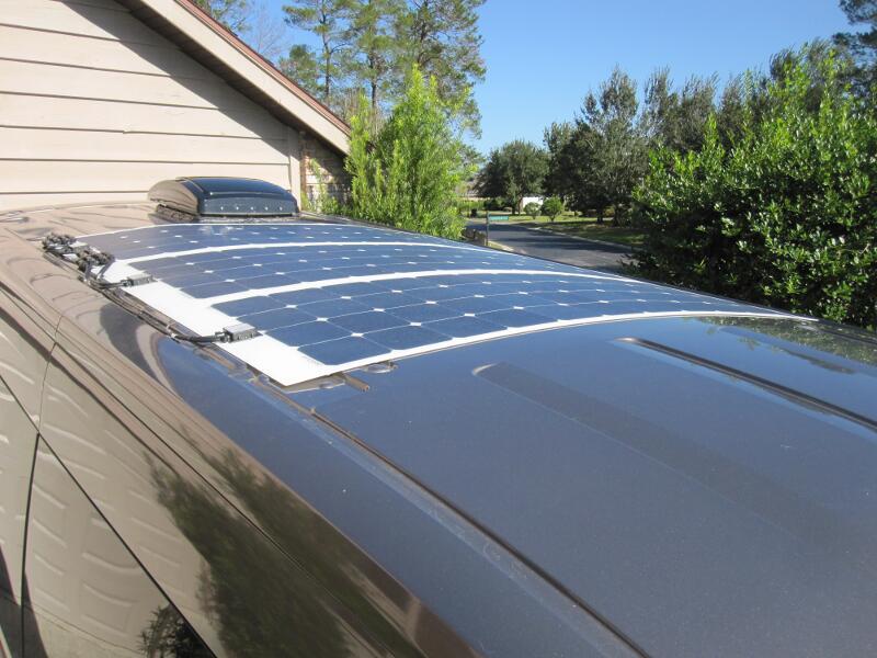 Flexible caravan solar panels