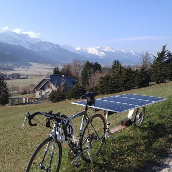 flexible solar panel for electrical bike