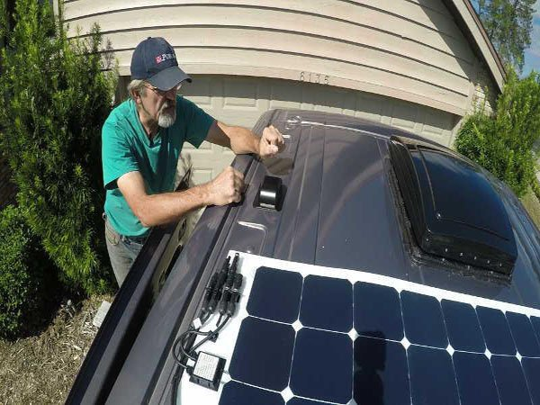 Flexible solar panels for vehicles